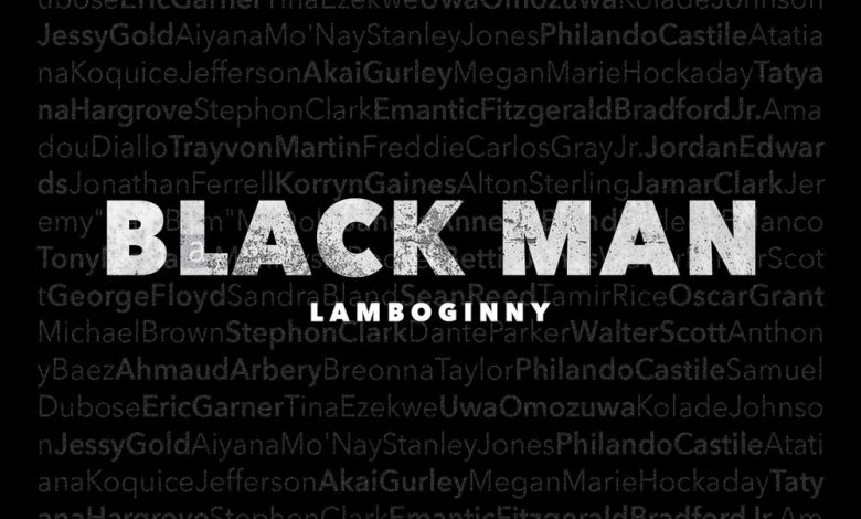 Lamboginny Black Man Artwork