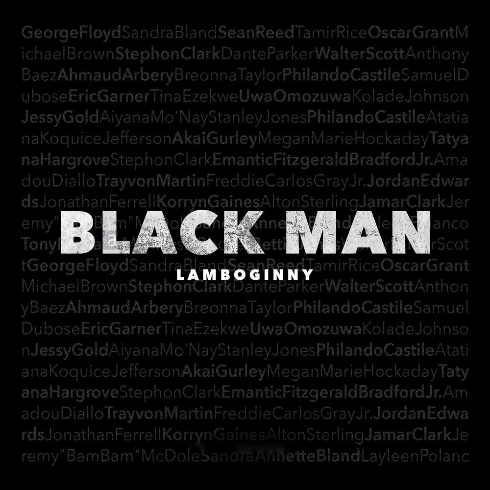 Lamboginny Black Man Artwork