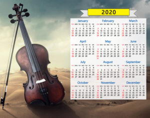 2020 calendar violin music orchestra classical