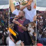 Money rain as Davido and Kcee perform at Obi Cubanas mothers burial scaled 1